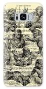 Baby Monkeys Playing Black And White Antique Illustration Galaxy S8 Case