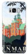 Denmark, Rosenborg Castle, Vintage Travel Poster Galaxy S8 Case