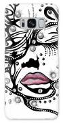 Female Abstract Face Galaxy Case by Darren Cannell