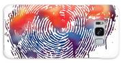 Finger Print Map Of The World Galaxy S8 Case