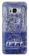 Fire Hose Cart Patent Blue Galaxy S8 Case