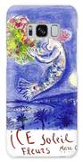 France Nice Soleil Fleurs Vintage 1961 Travel Poster By Marc Chagall Galaxy S8 Case