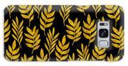 Golden Leaf Pattern Galaxy S8 Case