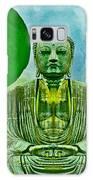 Green Buddha Galaxy Case by Lita Kelley