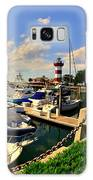 Harbour Town Marina Sea Pines Resort Hilton Head Sc Galaxy Case by Lisa Wooten