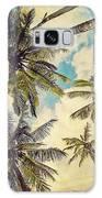 Kauai Island Palms - Blue Hawaii Photography Galaxy Case