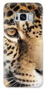 Leopard Face Galaxy Case by John Wadleigh
