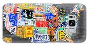 License Plate Map Of The Usa On Gray Distressed Wood Boards Galaxy S8 Case