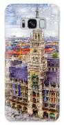 Munich Cityscape Galaxy Case by Rafael Salazar