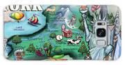 New York Cartoon Map Galaxy S8 Case
