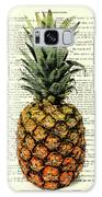 Pineapple In Color Illustration Galaxy Case by Madame Memento