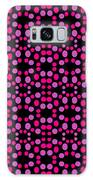 Pink Dots Pattern On Black Galaxy S8 Case