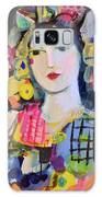 Portrait Of Woman With Flowers Galaxy S8 Case