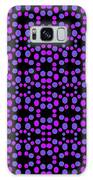 Purple Dots Pattern On Black Galaxy S8 Case