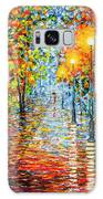 Rainy Autumn Evening In The Park Acrylic Palette Knife Painting Galaxy S8 Case