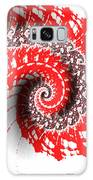 Red And White Fractal Galaxy S8 Case