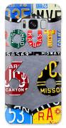 Route 66 Highway Road Sign License Plate Art Galaxy Case