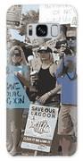 Save Our Lagoon Galaxy Case by Megan Dirsa-DuBois