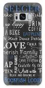 Seeger Lake House Rules Galaxy S8 Case