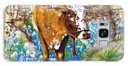Texas Longhorn In Bluebonnets Galaxy S8 Case