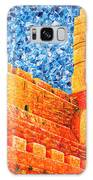 Tower Of David At Night Jerusalem Original Palette Knife Painting Galaxy S8 Case