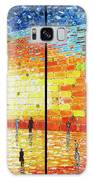 Western Wall Jerusalem Wailing Wall Acrylic Painting 2 Panels Galaxy S8 Case