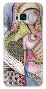 Woman With Large Eyes Galaxy Case by Prerna Poojara
