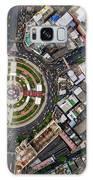 Wongwian Yai Roundabout Surrounded By Buildings, Bangkok Galaxy Case by Pradeep Raja PRINTS