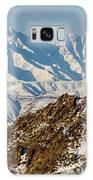 Afghanistan Hindu Kush Snowy Peaks Galaxy Case by SR Green