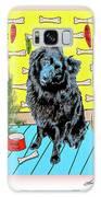 Bear Paw Holiday Galaxy Case by Lou Novick