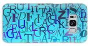 Blue Letters Over Blue Backlight Galaxy S8 Case