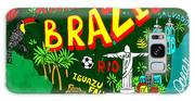 Illustrated Map Of Brazil Galaxy S8 Case