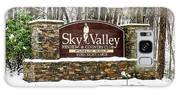 Sky Valley Georgia Welcome Sign In The Snow Galaxy S8 Case