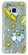 Space Print. Rocket, Flying Saucer Galaxy S8 Case