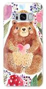 Vector Illustration Adorable Bear In Galaxy S8 Case