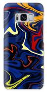 Warped Wet Paint Abstract In Comic Book Colors Galaxy Case by Shelli Fitzpatrick