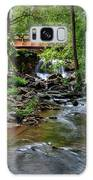 Waterfall With Wooden Bridge Galaxy S8 Case