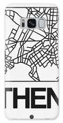 White Map Of Athens Galaxy S8 Case