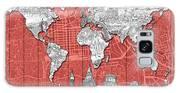 World Map Landmarks Skyline 3 Galaxy S8 Case
