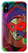 394 - Challenging Woman With Mask IPhone Case