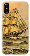 A China Clipper Ship IPhone Case