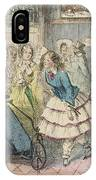 A Girl Wearing Bloomers Is The Centre IPhone Case