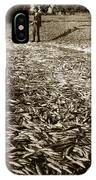 A Run Of Squawfish Stranded In Kelsey Creek Near Kelseyville Lake County April 29 1899 IPhone Case