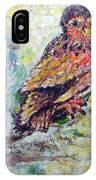 Acrylic Painting Fuzzy Yellow Owl  IPhone Case