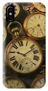 Aged Pocket Watches IPhone Case