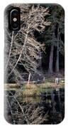 Alder Tree Reflection In Pond IPhone Case