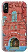 Back Of Russian Historical Museum In Moscow-russia IPhone Case
