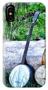 Banjos At The Woodpile IPhone Case