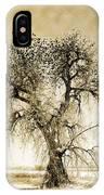 Bird Tree Fine Art  Mono Tone And Textured IPhone Case