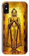 Buddha Inside Ananda Temple - Bagan - Myanmar IPhone Case